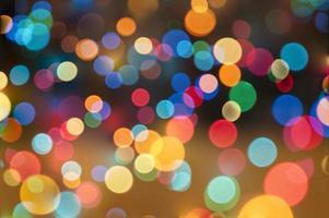 abstrakter kreisförmiger Bokehhintergrund der Weihnachtsbeleuchtung
