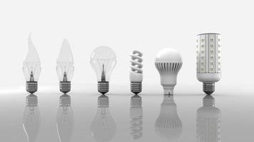 Glühbirnen Evolution