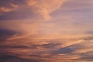 romantischer rosa Himmel