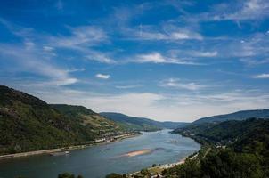 klarer Himmel über Rhein
