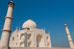 Taj Mahal mit blauem Himmel foto