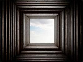 Tunnelende Himmelansicht