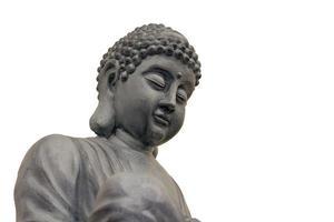 japanische Zen Buddha Skulptur Nahaufnahme