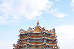 sehr bunter und dekorativer chinesischer Tempel