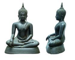 Buddha-Bild aus Metall, Dvaravati-Stil, Thailand