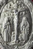 silbernes orthodoxes Evangelium foto