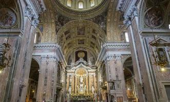 Barroco Kirche des Gesu Nuovo, Neapel, Italien