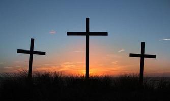 Kreuze von Golgatha foto