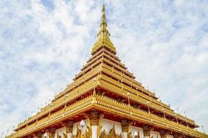 phra mahathat kaen nakhon tempel, khon kaen provinz, thailand foto