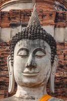Buddha Gesicht in Wat Chaiwatthanaram, Ayutthaya, Thailand foto