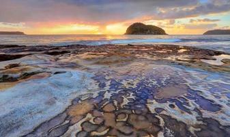 Blick auf die Löweninsel vom Flachkopfstrand foto