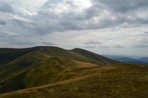 Wolkengebirge Himmel des Reisens eines Panoramas foto