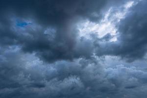 dunkle Wolkenlandschaft foto