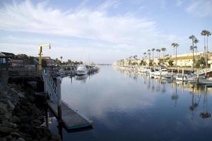 Morgendämmerung im Hafen von Ventura foto