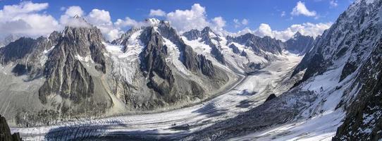 Blick auf den Gletscher d'argentière foto