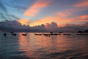 Sonnenuntergang auf der Insel Koh Tao