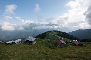 Plateau unter Wolken foto