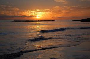 malerischer und launischer Sonnenuntergang über Teneriffa, Kanarischen Inseln, Spanien
