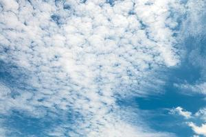 blauer Himmel und weiße flauschige Wolken