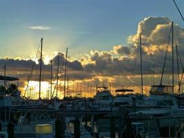 Morgendämmerung am Dinner Key Marina foto