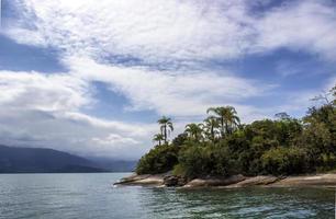 tropische Insel mit Palmen in Brasilien