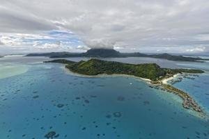 Luftaufnahme auf Bora-Bora