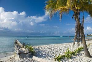 Isla Mujeres Strand in Cancun, Mexiko foto