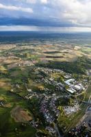 Luftbild von Ackerland foto