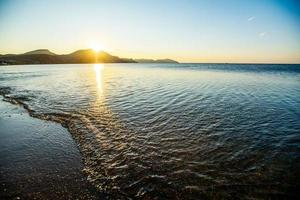 mystischer Sonnenaufgang foto