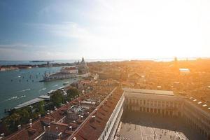 Blick auf die Stadt Venedig, Italien. foto