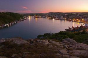 Sonnenuntergang auf st. Johns Hafen foto