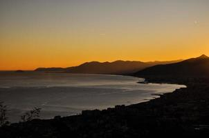 ligurische Küste bei Sonnenuntergang - Borgio verezzi, Italien
