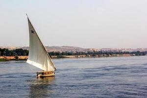 horizontales Nilboot foto