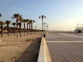 Valencia Damm und Strand foto