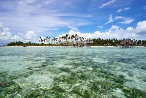 tropische Insel in Sabah Borneo foto
