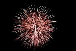gefeiertes Feuerwerk foto