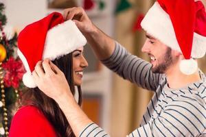 Weihnachten zu Hause feiern foto