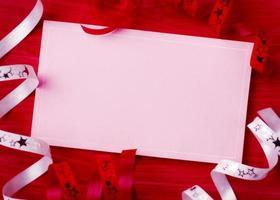 Weihnachtskarte Weihnachtsfeier der Grußkarte foto