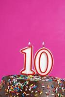 zehn Jahre feiern foto