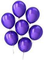 Party Luftballons blau lila sieben Geburtstagsdekoration foto
