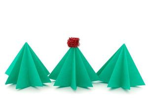 Origami Weihnachtsbaum foto