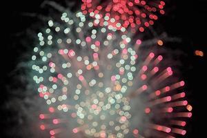 defokussiertes Feuerwerk