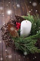 dekorative Weihnachtskomposition foto