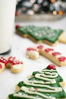 Weihnachtsplätzchen und Milch