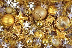 goldene und silberne Weihnachtsdekoration