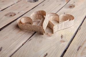 herzförmiger Ausschnitt st Valentinstag Herzen foto
