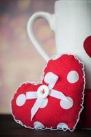 Kaffeetasse und Herz foto