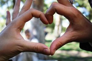 Liebe mit den Fingern foto