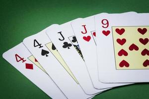 Poker Hand Call zwei Paare foto