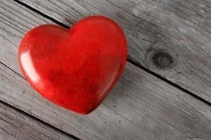 rotes Valentinstagherz foto